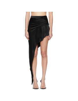 Black Asymmetric Floor Length Miniskirt by Alexander Wang
