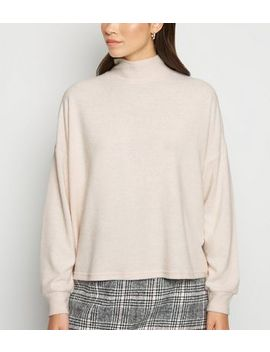 Pale Pink Brushed Oversized Boxy Jumper by New Look