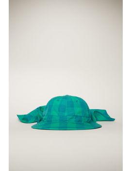 Vichy Check Safari Hat Emerald Green by Acne Studios