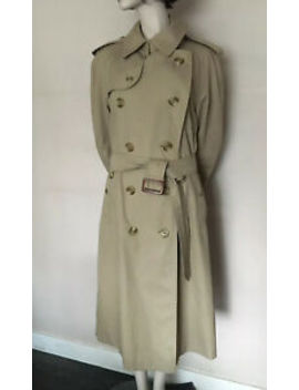Burberrys, Made In England,Vintage Trench Mac Coat Button Up,Belted,Size Uk14/16 by Ebay Seller