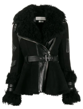 Belted Shearling Jacket by Alexander Mc Queen