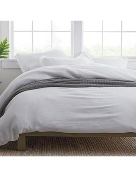 Pryor White Solid Organic Cotton Full Duvet Cover by The Company Store
