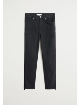 Mom Fit Jeans Side Band by Mango