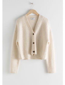 Boxy Wool Blend Classic Cardigan by & Other Stories
