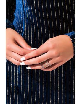 Spiraling Rhinestone Ring by Akira