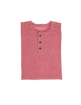 Henley Shirt   Red by Peter Manning