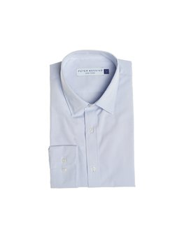 Premium Dress Shirts Slim Fit   Blue by Peter Manning
