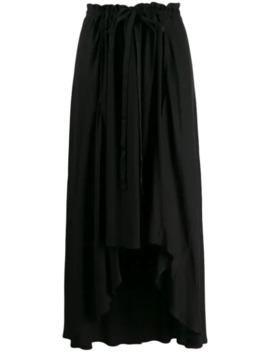 Asymmetric Hem Crepe Skirt by Ann Demeulemeester