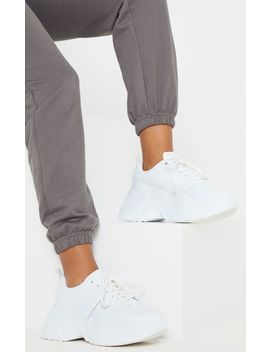 White Extreme Platform Sole Chunky Trainer by Prettylittlething