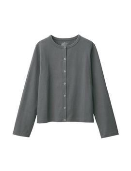 Low Count Jersey Stitch Cardigan by Muji