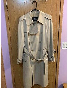 Tan Burberry Long Trench Coat Size Large by Burberry