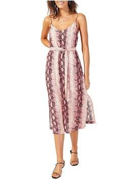 Pink Python Slip Dress by Minkpink
