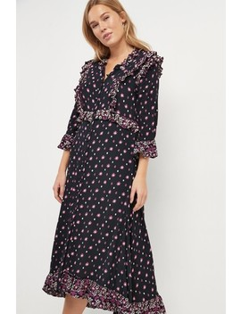 Free People Black Calico Skies Midi Dress by Next