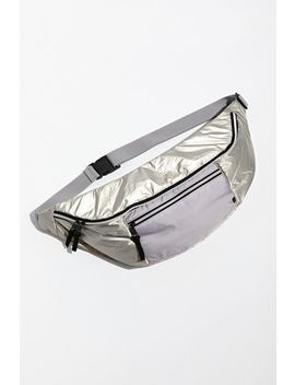 Uo Oversized Silver Sling Bag by Urban Outfitters