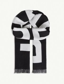 Wool Football Scarf by Burberry