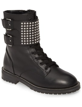 Seth Crystal Strap Combat Boot by Kurt Geiger London