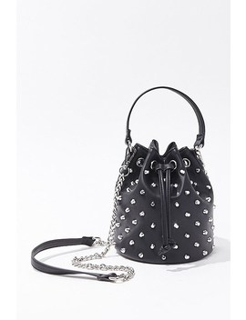 Spiked Stud Bucket Bag by Forever 21