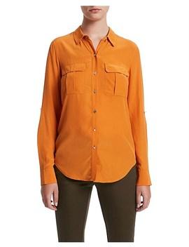 Sofia Silk Utility Shirt by Marcs Women