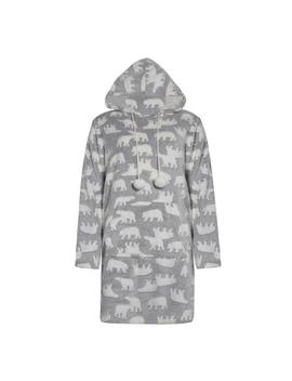 Grey Polar Bear Pyjama Hoodie by Primark