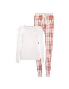 Flannel Print Pyjama Set by Primark