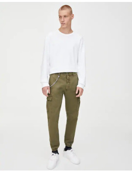Pantaloni Chino Militari Slim Fit by Pull & Bear
