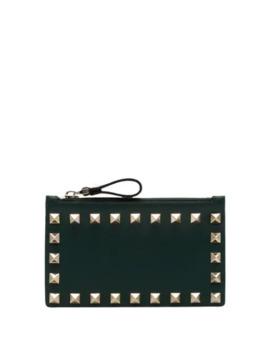 Valentino Garavani Rockstud Zipped Wallet by Valentino
