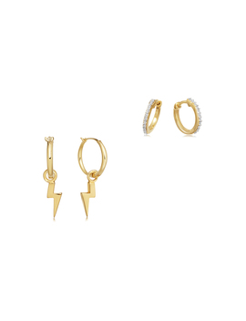 Gold Stormy Night Stack Earring Set by Missoma