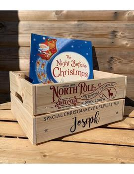 Personalised Christmas Eve Crate   Christmas Eve Box   Christmas Eve   Personalised Box   Personalised Crate by Etsy