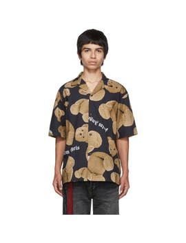 Chemise De Bowling Noire Et Brune Kill The Bear by Palm Angels
