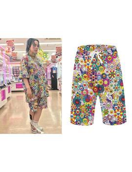 Billie Eilish Baggy Shorts   Takashi Murakami Flowers Shirt   Billie Eilish Pants   Billie Eilish Bad Guy Clothes   Eilish Apparel Fans Gift by Etsy
