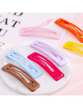Rectangle Snap Hair Clip   4 Pack   Colorful   Barrette   Hair Accessory by Etsy