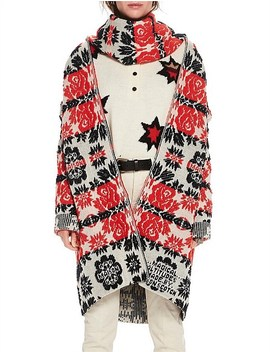 Longer Length Cardigan In Floral Jacquard Pattern by Scotch & Soda