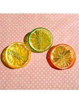 Kawaii Citrus Fruit Hair Clips by Etsy