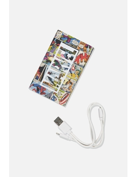 Marvel Printed Charge It Charger by Cotton On