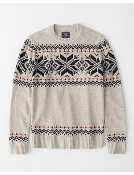 Patterned Crew Neck Sweater by Abercrombie & Fitch