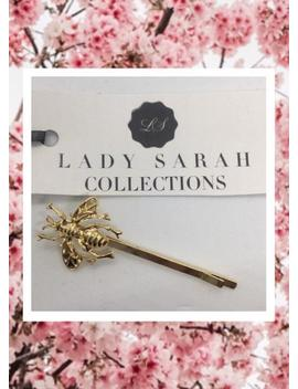 Lady Sarah Gold Bee Hair Clip Slide Pin Statement Hair Accessory by Etsy
