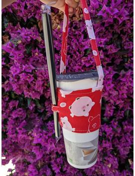 Boba Carrier   Boba Holder   Bubble Tea Carrier   Red Pigs by Etsy