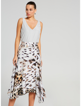 Luxe Animal Pleated Skirt by Portmans