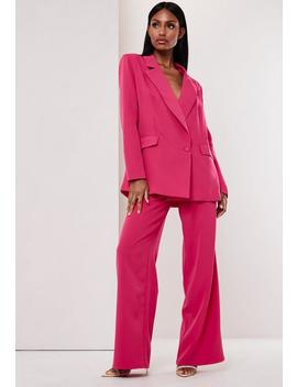Fuchsia Co Ord Wide Leg Trousers by Missguided