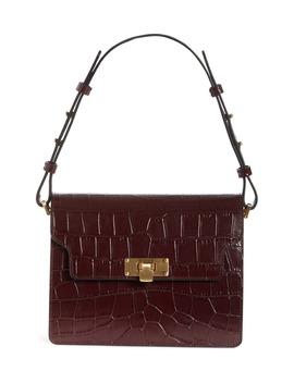 Vintage Brick Croc Embossed Leather Bag by Marge Sherwood