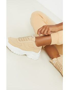 Sand High Arch Chunky Sole Sneaker by Prettylittlething