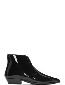 Black Patent Jonas Boots by Saint Laurent