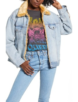 Oversize Reversible Faux Fur & Denim Trucker Jacket by Levi's®