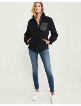 Sweatshirt Aus Sherpa Fleece Mit Druckknopfverschluss by Abercrombie & Fitch