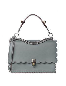 Fendi Vitello Liberty Studded Kan I Shoulder Bag Alga Palladio by Fendi