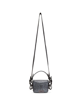 Silver Glitter Baby Flap Bag by Off White