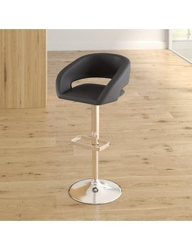 Nolte Adjustable Height Swivel Bar Stool by Orren Ellis