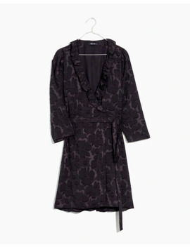 Petite Ruffled Wrap Dress In Floral Jacquard by Madewell
