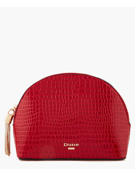 Sartra Red Patent Moc Croc Wallet by Dune
