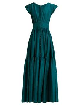 Mayette Silk Tiered Maxi Dress by Loup Charmant